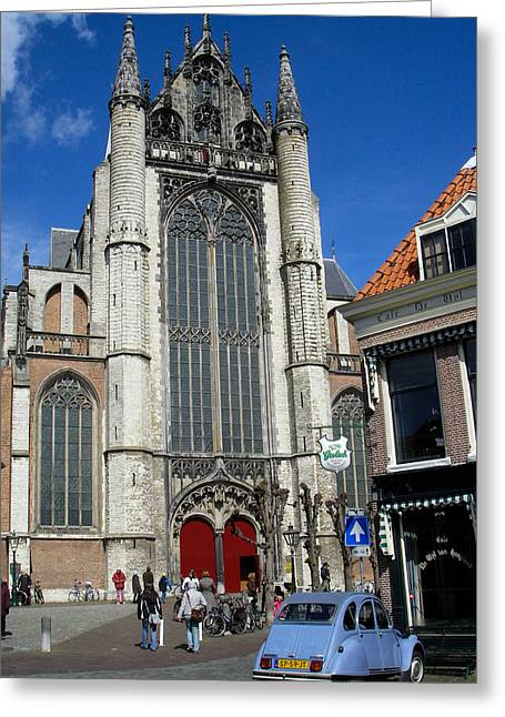 Geobob Greeting Cards - Hooglandse Kerk Church Leiden Holland Netherlands Greeting Card by Robert Ford