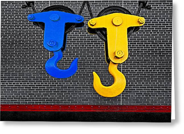 Industrial Concept Greeting Cards - Hook Me Up Greeting Card by Susan Candelario