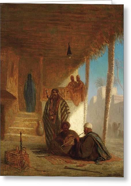 Jihad Greeting Cards - Hookah Smokers Greeting Card by Celestial Images