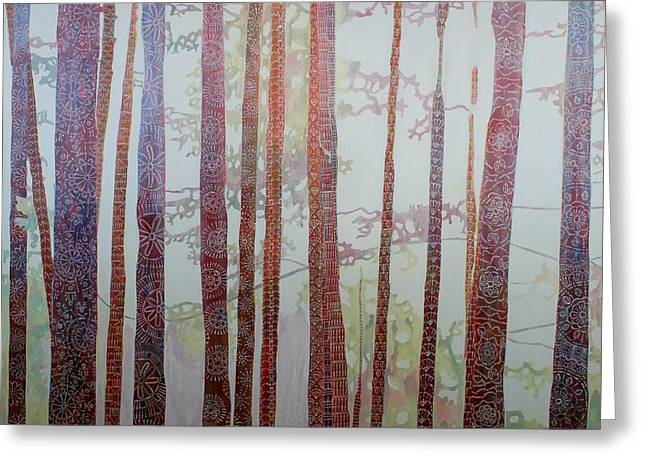 North Vancouver Paintings Greeting Cards - Hooked on Trees Greeting Card by Sandrine Pelissier