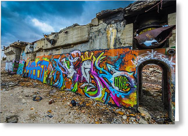 Abandonded Greeting Cards - Hooks Greeting Card by Randy Scherkenbach