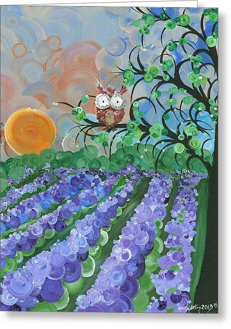 Recently Sold -  - Saw Greeting Cards - Hoolandia Seasons Summer Greeting Card by MiMi  Stirn