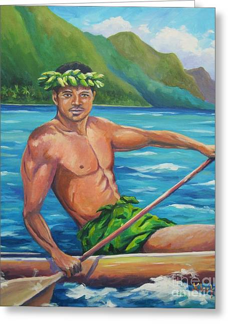Wa Paintings Greeting Cards - Hoomakauka Greeting Card by John Clark