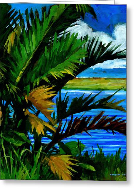 Tropical Landscape Greeting Cards - Hoomaluhia 1 Greeting Card by Douglas Simonson