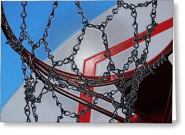 Basketball Abstract Greeting Cards - Hoop dreams Greeting Card by Andy McAfee