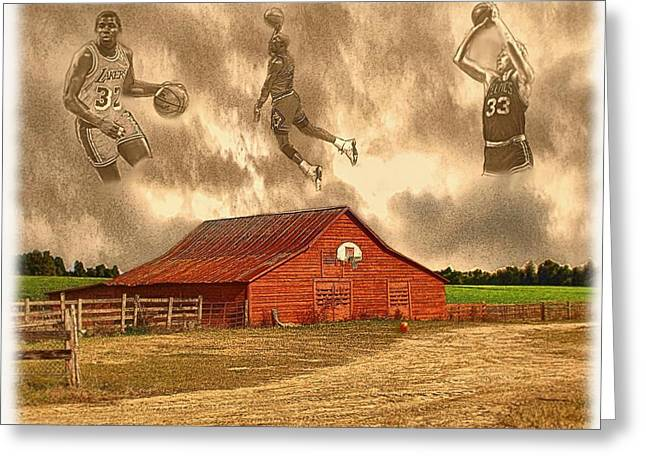 Indiana Scenes Greeting Cards - Hoop Dreams Greeting Card by Charles Ott