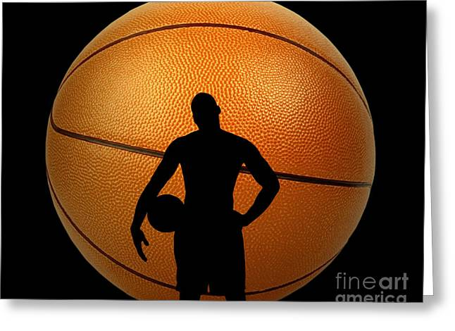 Larry Bird Greeting Cards - Hoop Dreams Greeting Card by Cheryl Young