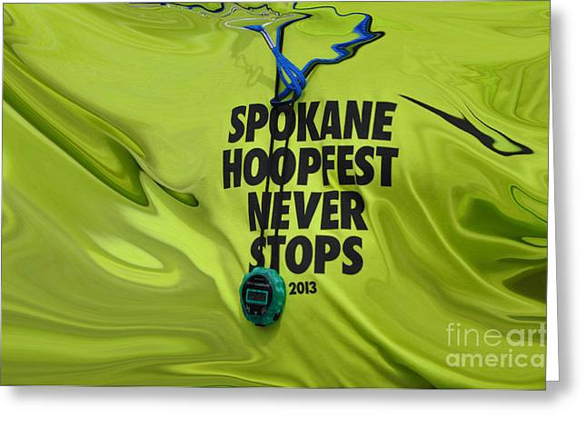 Spokane Greeting Cards - Hoopfest never stops Greeting Card by Ana Lusi