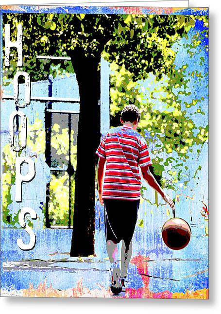 Urban Sport Greeting Cards - Hoops Basketball Print Greeting Card by Adspice Studios