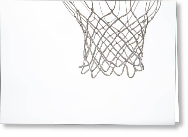 Basketballs Greeting Cards - Hoops Greeting Card by Karol  Livote