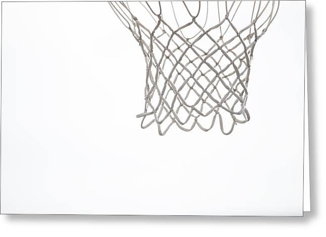 Basketball Photographs Greeting Cards - Hoops Greeting Card by Karol  Livote