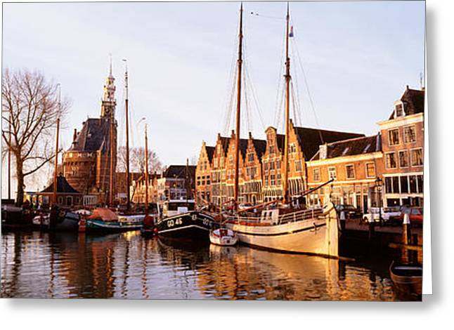 Port Town Greeting Cards - Hoorn, Holland, Netherlands Greeting Card by Panoramic Images