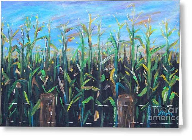 Recently Sold -  - Farmers Field Greeting Cards - Hoosier view Greeting Card by Steven Dopka