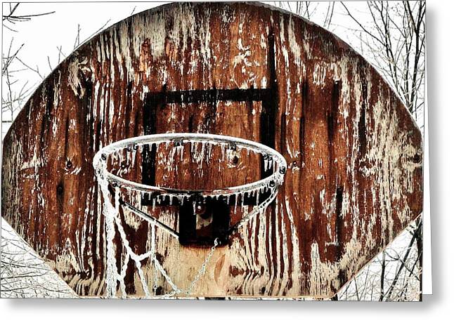Backboards Greeting Cards - Hoosier Winter Greeting Card by Benjamin Yeager