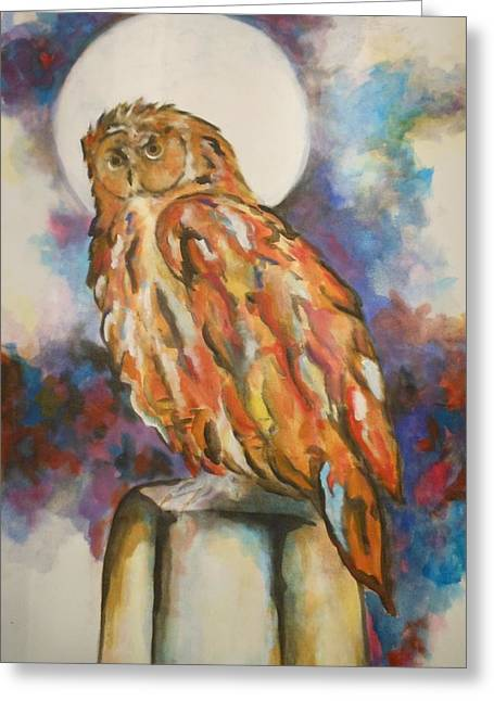 Label Greeting Cards - Hoot Greeting Card by Frederick Lyle Morris