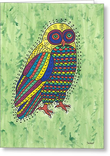 Susie Weber Greeting Cards - Hoot Owl Greeting Card by Susie Weber