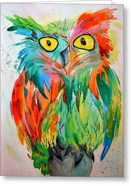 Bht Greeting Cards - Hoot Suite Greeting Card by Beverley Harper Tinsley