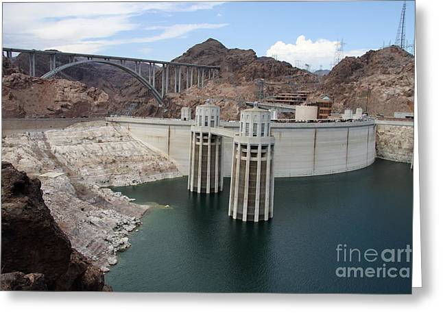 Generators Greeting Cards - Hoover Dam And Bridge Greeting Card by Christiane Schulze Art And Photography
