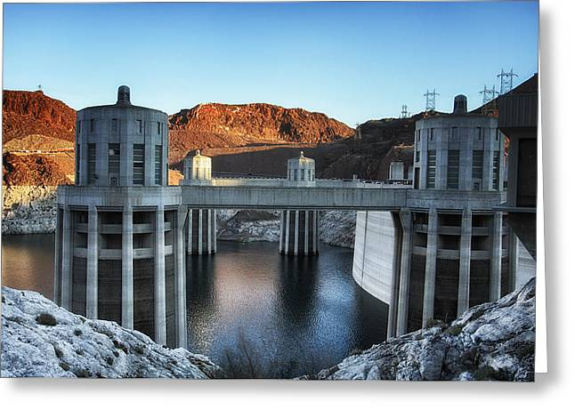 Dam Framed Prints Greeting Cards - Hoover Dam Greeting Card by Kim Andelkovic