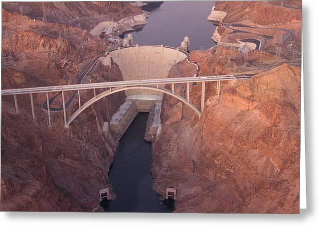 Kim Photographs Greeting Cards - Hoover Dam Greeting Card by Kim Aston