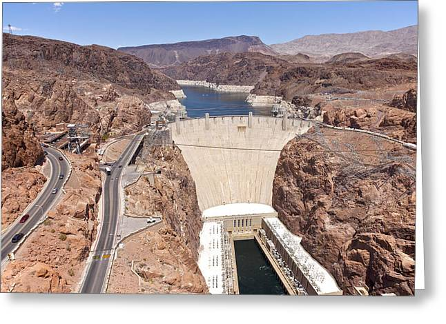 Hoover Dam Greeting Cards - Hoover Dam Nevada. Greeting Card by Gino Rigucci