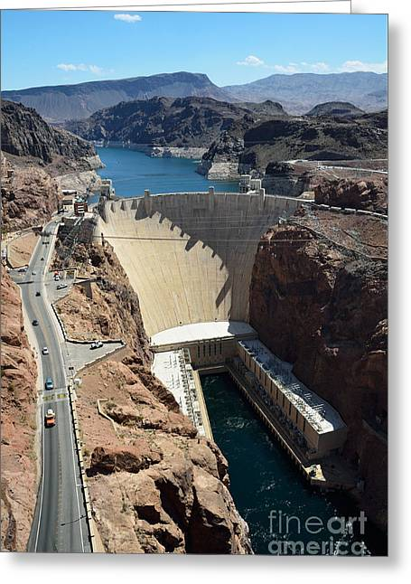 Hoover Greeting Cards - Hoover Dam Greeting Card by RicardMN Photography