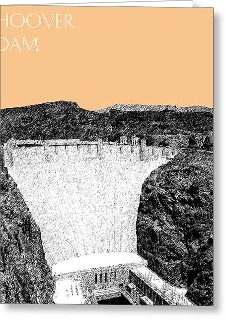 Las Vegas Art Greeting Cards - Hoover Dam - Wheat Greeting Card by DB Artist