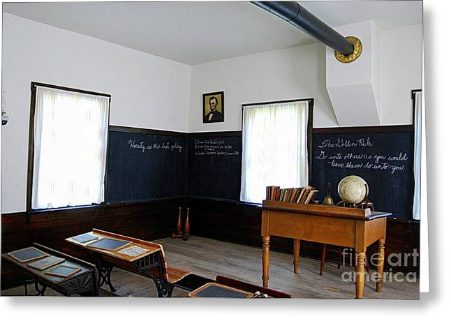 Hoover Historic Site Schoolhouse Classroom Greeting Card by Catherine Sherman