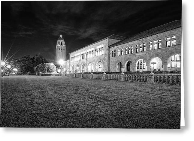 Alto Greeting Cards - Hoover Tower Stanford University Monochrome Greeting Card by Scott McGuire