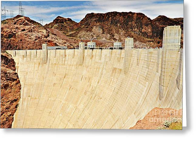 Scenic Artwork Greeting Cards - Hoovers Dam Greeting Card by Charles Dobbs