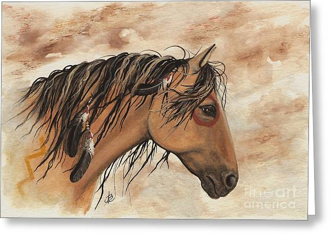 Hopa - Majestic Mustang Series Greeting Card by AmyLyn Bihrle