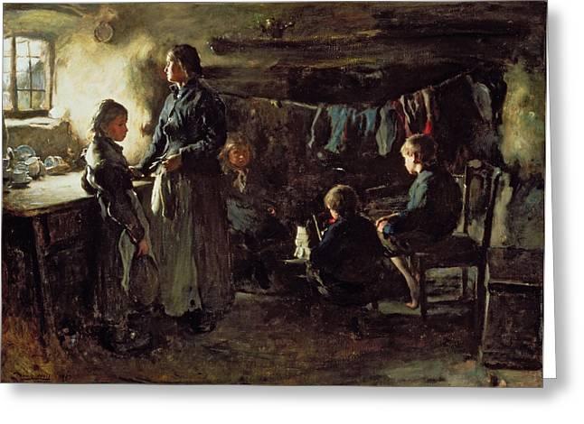 Despair Greeting Cards - Hope, 1883 Greeting Card by Frank Holl