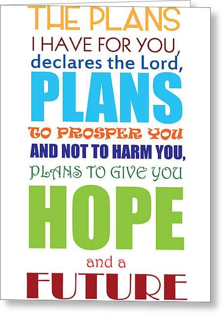 Scripture Digital Art Greeting Cards - Hope 2 Greeting Card by Color  Splash