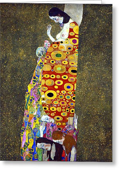 Hope 2 Greeting Card by Gustive Klimt
