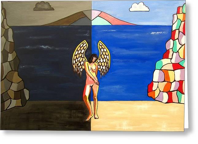 Hope And Despair Greeting Card by Sandra Marie Adams