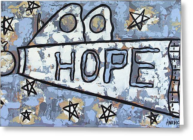 Christian Poster Greeting Cards - Hope Greeting Card by Anthony Falbo