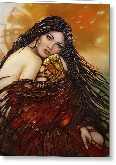 Dress Reliefs Greeting Cards - Hope Greeting Card by Ashkan Fallahi
