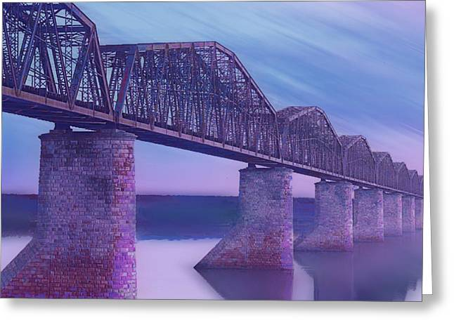 Interior Scene Mixed Media Greeting Cards - Hope Bridge Soft Greeting Card by Tony Rubino