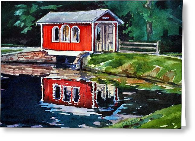 Covered Bridge Paintings Greeting Cards - Hope Bridge Greeting Card by Spencer Meagher