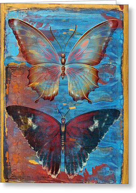 Abstract Digital Paintings Greeting Cards - Hope Butterflies Greeting Card by Jean PLout