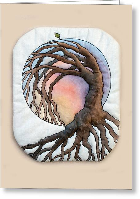 Uplifting Tapestries - Textiles Greeting Cards - Hope Greeting Card by Darlene Weaver