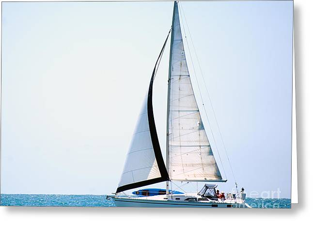 Laura Wrede Greeting Cards - Hope Floats Sailboat from the book MY OCEAN Greeting Card by Artist and Photographer Laura Wrede