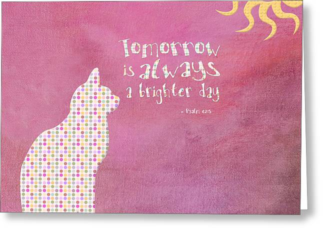 Scriptural Greeting Cards - Hope for Tomorrow Greeting Card by Bonnie Bruno