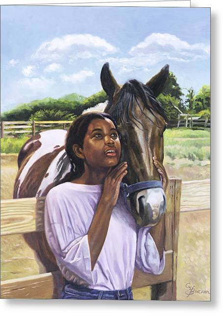 African American Artist Greeting Cards - Hope for Tomorrow Greeting Card by Colin Bootman