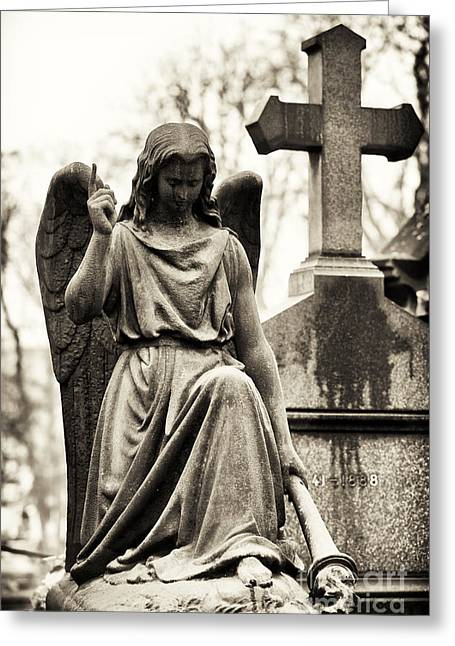 Cemeteries Of Paris Greeting Cards - Hope From Above Greeting Card by John Rizzuto