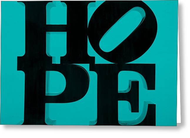 Indiana Scenes Greeting Cards - HOPE in LIGHT BLUE Greeting Card by Rob Hans