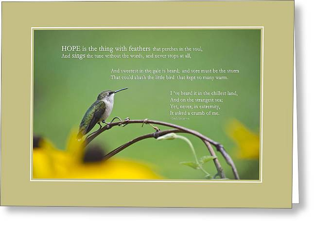 Dickenson Greeting Cards - Hope Inspirational Art Greeting Card by Christina Rollo