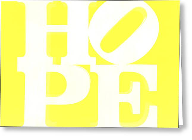 Indiana Scenes Greeting Cards - Hope Inverted Yellow Greeting Card by Rob Hans