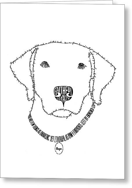 Rescue Drawings Greeting Cards - Hope is More Than Words Greeting Card by Bethany Martin