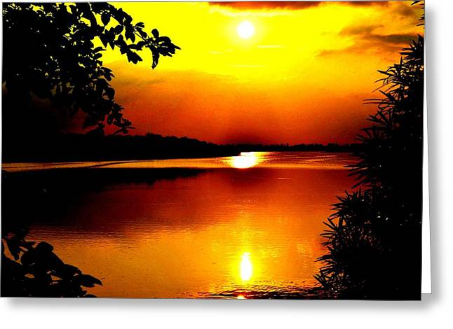 Hope Is Still There Sunset Greeting Card by Deepti Chahar